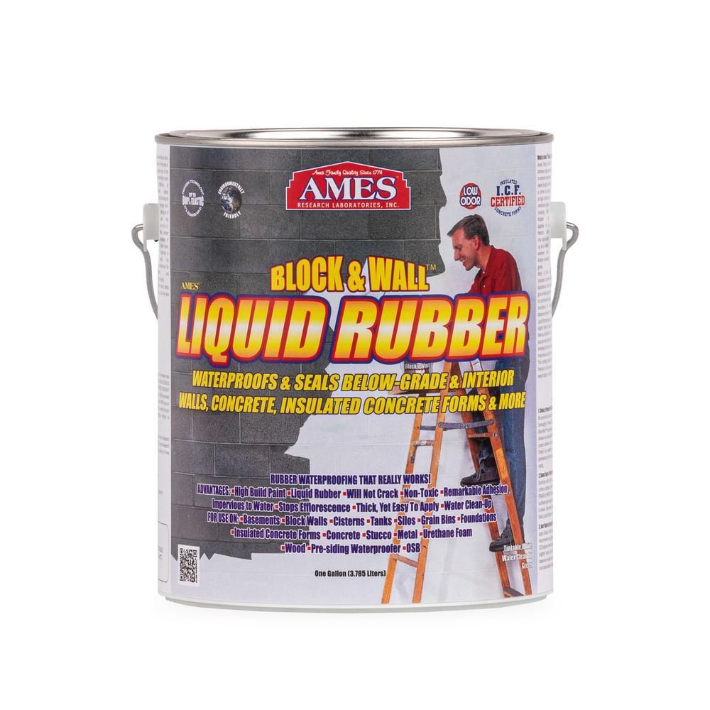 Ames Block and Wall 1 gal. Liquid Rubber Waterproof Sealant