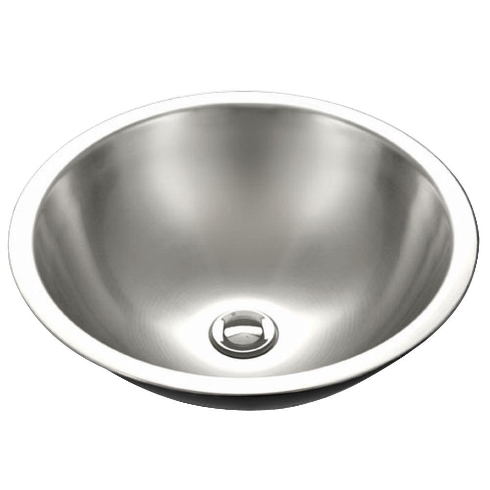 Club Series Drop-In Stainless Steel 16 in. Single Bowl Lavatory Sink