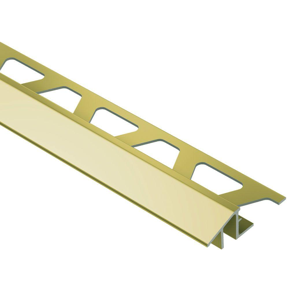 Reno-TK Bright Brass Anodized Aluminum 1/2 in. x 8 ft. 2-1/2