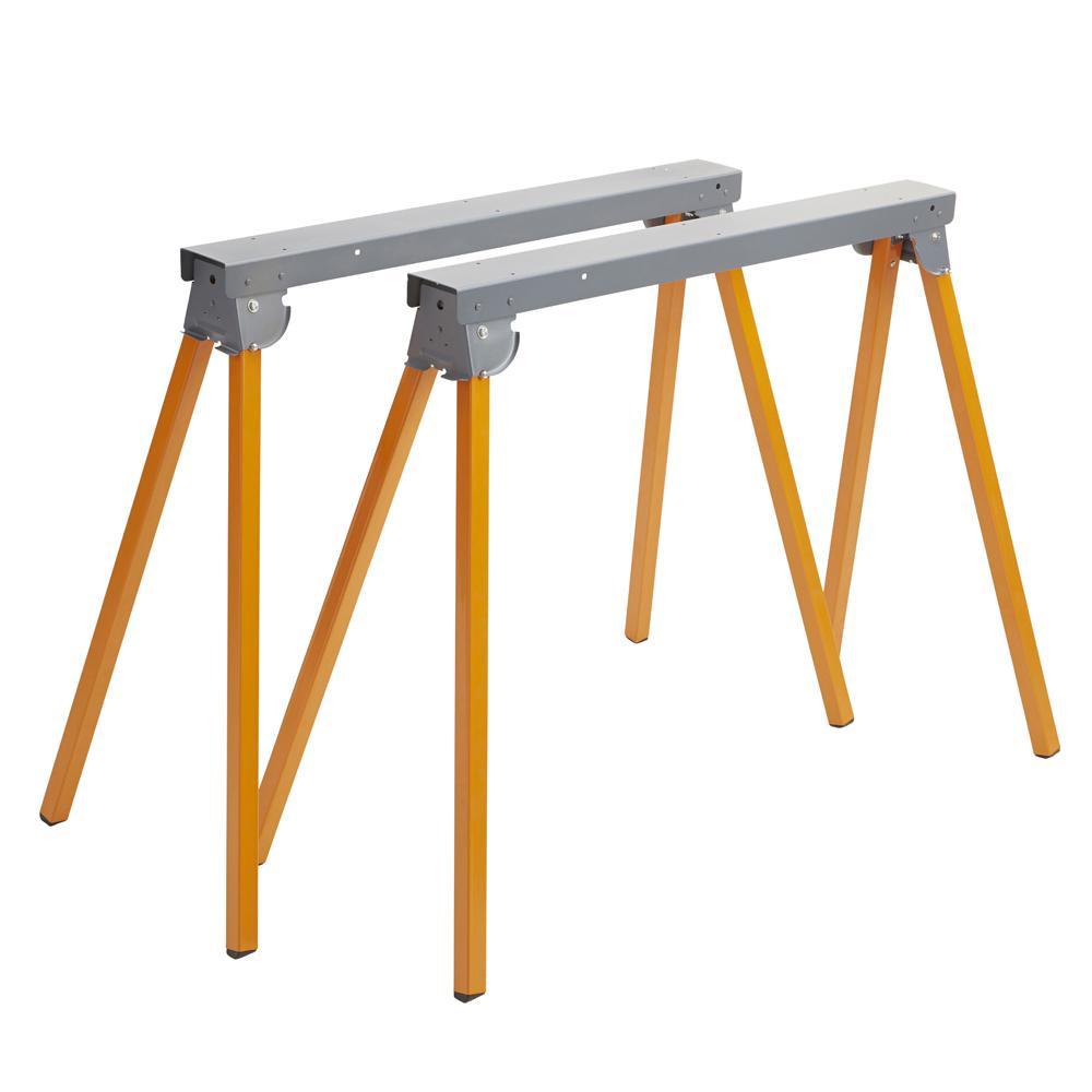36 in. Steel Folding Metal Sawhorse (1-Pair)