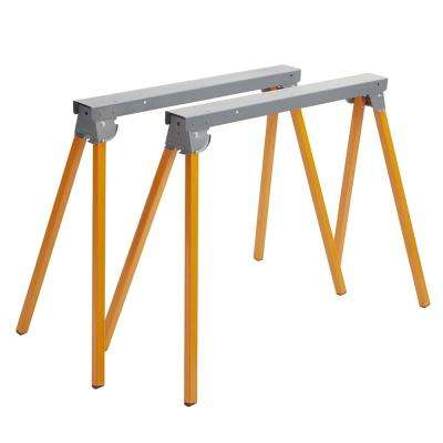36 in. Folding Metal Sawhorse (1-Pair)