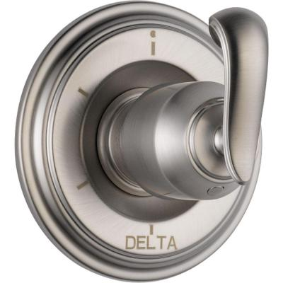 Cassidy 6-Function Diverter Trim Kit Only in Stainless Steel (Valve and Handle Not Included)