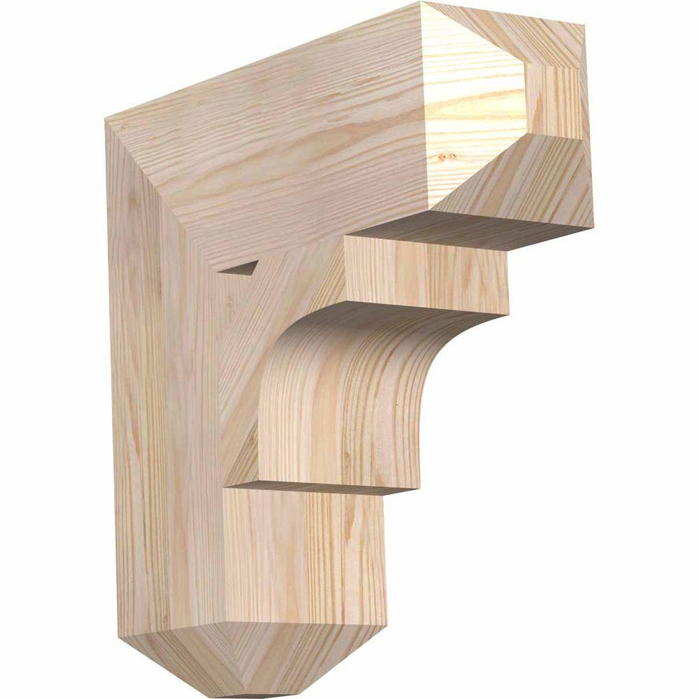 Ekena Millwork 5.5 in. x 18 in. x 18 in. Douglas Fir Westlake Craftsman Smooth Bracket
