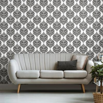Damask Peelable Wallpaper Home Decor The Home Depot