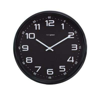 4-Pack Max Wall Clock, 14 in., 2.5 in. D - Black
