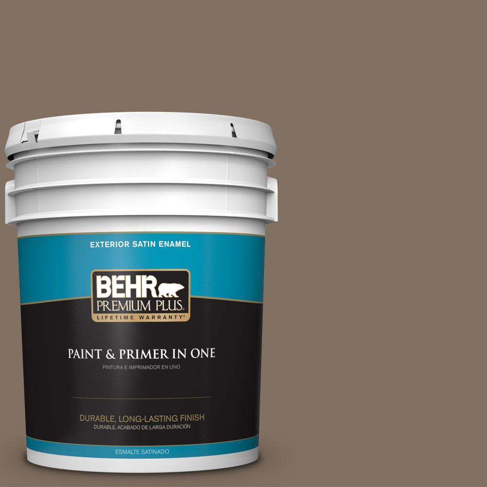 5 gal. #PPU5-04 Mocha Latte Satin Enamel Exterior Paint