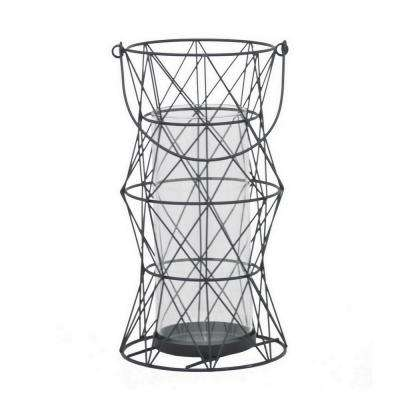 12 in. Black Metal Lantern