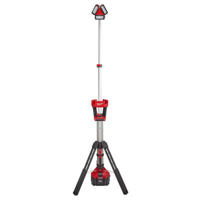 M18 18-Volt Lithium-Ion Cordless ROCKET LED Stand Light/Charger Kit with High Demand 9.0Ah Battery