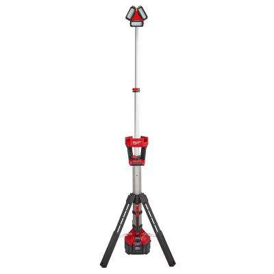 M18 18-Volt Lithium-Ion Cordless ROCKET LED Stand Light/Charger Kit W/ High Demand 9.0Ah Battery