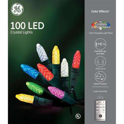 Color Effects RF Controlled Light Show- 100-Light 8 mm Faceted String Set - LED - GE - Christmas Lights - Christmas Decorations - The Home Depot