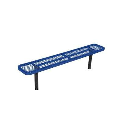 In-Ground 6 ft. Blue Diamond Commercial Park Bench without Back