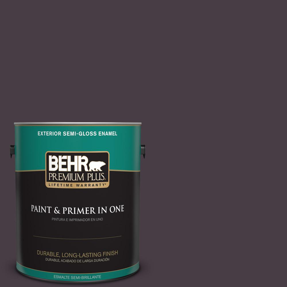 1 gal. #PPU17-20 Eclectic Purple Semi-Gloss Enamel Exterior Paint