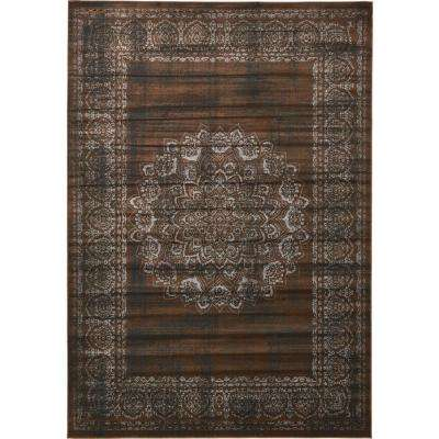 Istanbul Chocolate Brown 8 ft. x 11 ft. 6 in. Area Rug