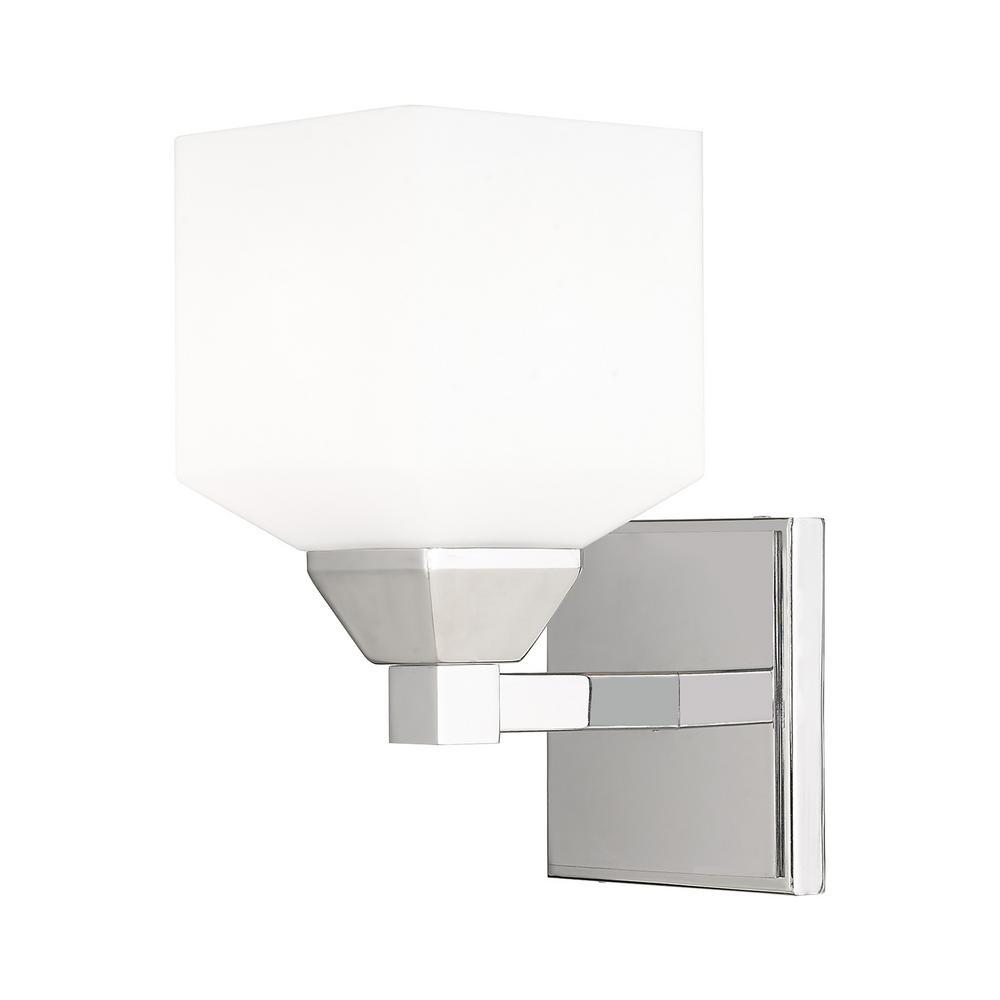 Aragon 1 Light Polished Chrome Wall Sconce