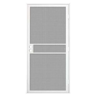 32 in. x 80 in. White Surface Mount ClearGuard Security Door with Meshtec Screen