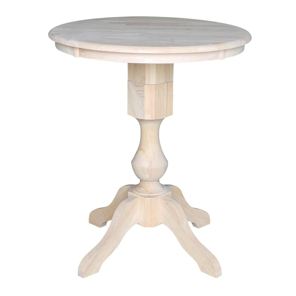 International Concepts Sophia 30 In. Unfinished Solid Wood Counter Height  Table