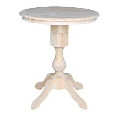 Sophia 30 in. Unfinished Solid Wood Counter-Height Table