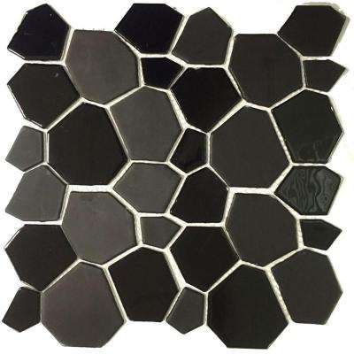 Peel and Stick 11-1/2 in. x 11-1/2 in. x 5 mm Glass Mosaic Tile