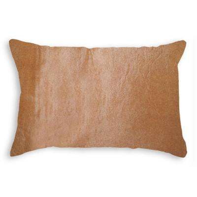 Torino Tan 12 in. x 20 in. Cowhide Pillow