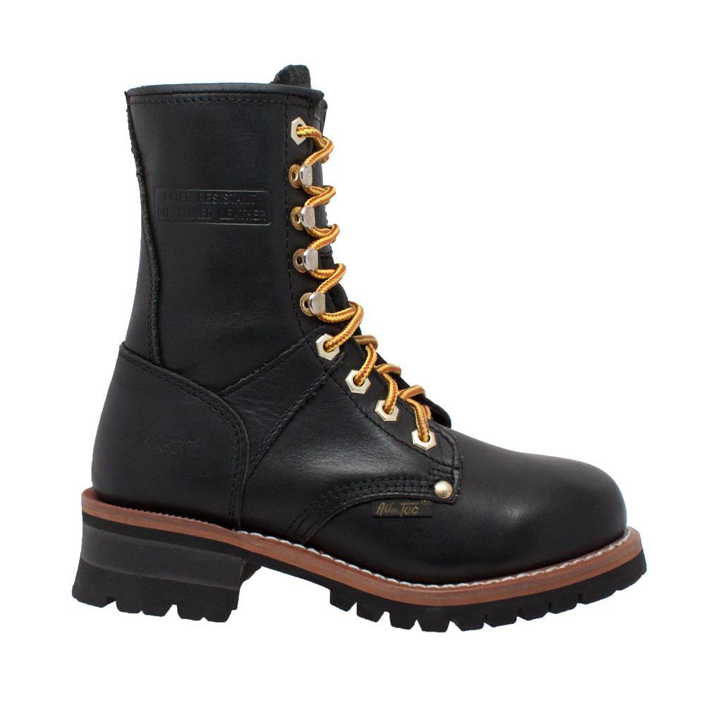 9'' Logger Boot - Soft Toe - Black Size