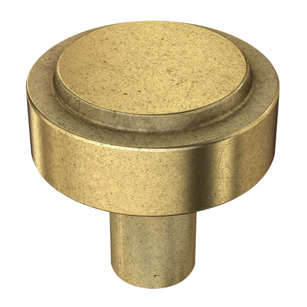 Liberty Soft Industrial 1-1/4 in. (32mm) Bedford Brass Round Cabinet Knob