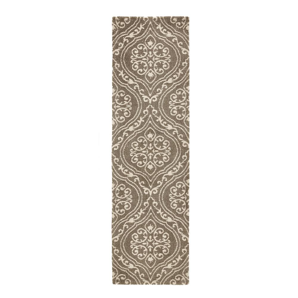 Home Decorators Collection Arden Mocha 2 ft. x 7 ft. Jacquard Runner Rug