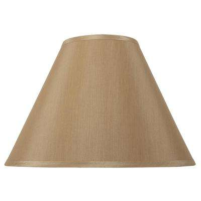 Mix and Match 17 in. Dia x 12.5 in. H Gold Empire Table Lamp Shade