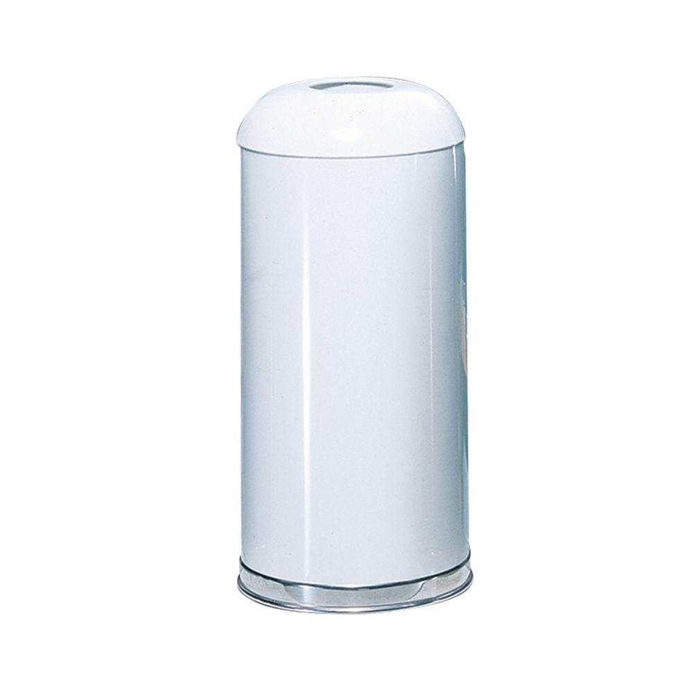 Rubbermaid Commercial Products Marshal 15 Gal. White Open Top Trash Can
