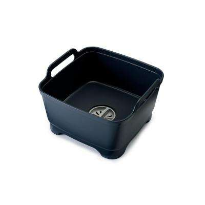 Wash and Drain Dishwashing Bowl with Straining Plug in Grey