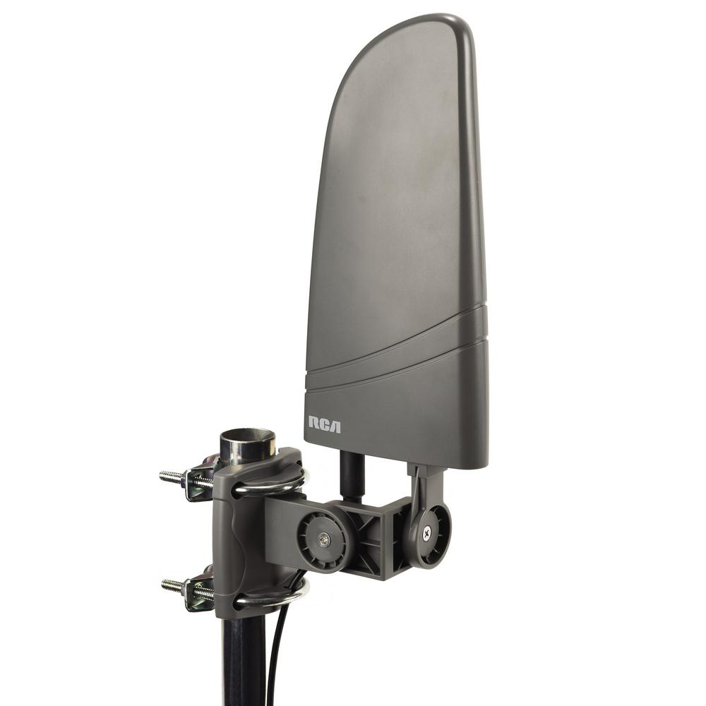 Rca Amplified Indooroutdoor Hdtv Antenna Ant702z The Home Depot