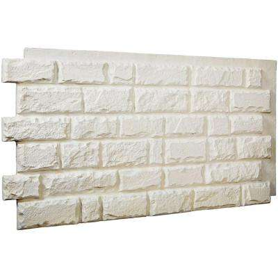 1-1/2 in. x 48 in. x 25 in. Dove White Urethane Cut Coarse Random Rock Wall Panel