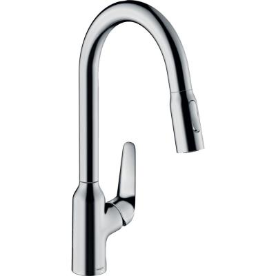 Focus N Single-Handle Pull-Down Sprayer Kitchen Faucet in Chrome