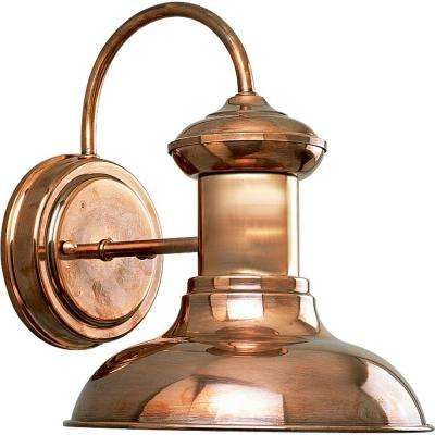 Brookside Collection 1-Light Small Copper Outdoor Wall Lantern