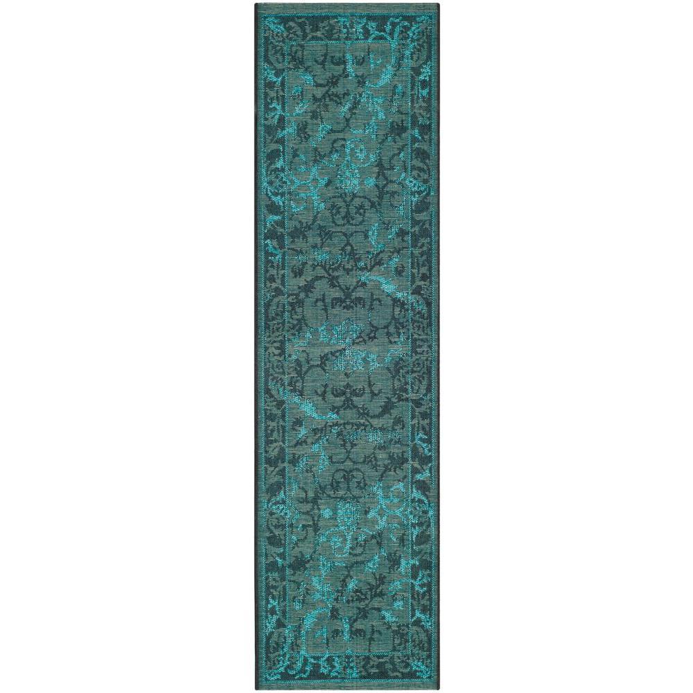 Safavieh Palazzo Black Turquoise 2 Ft X 7 Runner Rug
