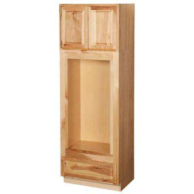 Double Oven Kitchen Cabinet In Natural Hickory