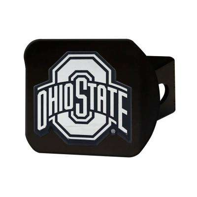 NCAA Ohio State University Class III Black Hitch Cover with Chrome Emblem