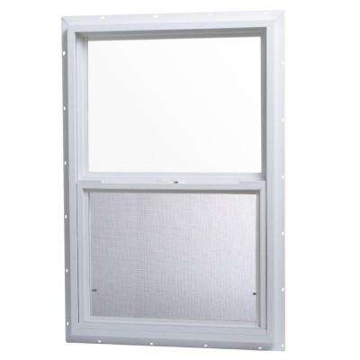 24 in. x 36 in. Single Hung Vinyl Window - White