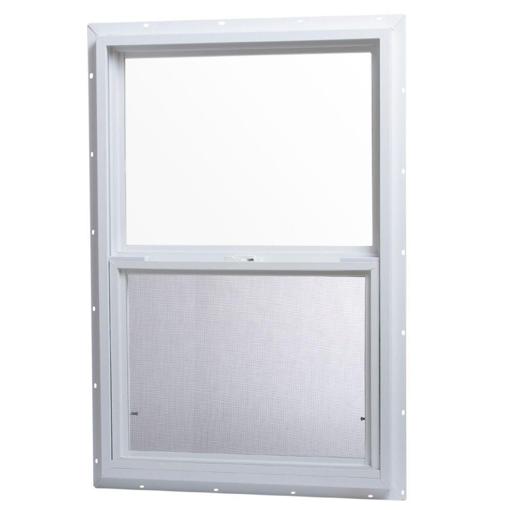 24 in. x 36 in. Single Hung Vinyl Window - White