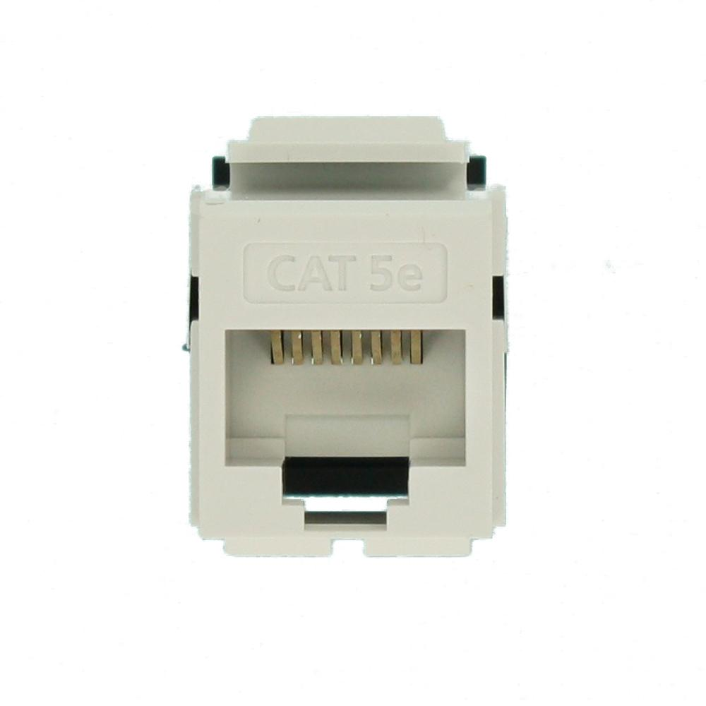 5G108-RW5 GigaMax Cat 5e Leviton QuickPort Jack White