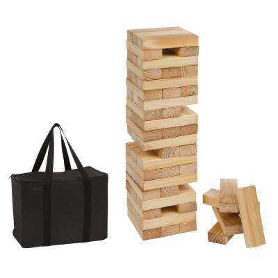 2 ft. Tall Giant Wooden Stacking Puzzle Game with Carry Case (60-Piece)