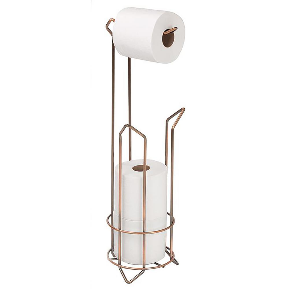 Toilet Paper Holder and Dispenser in Bronze