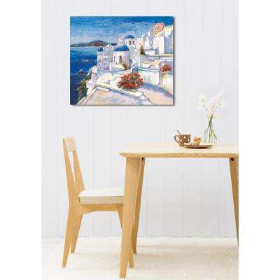 28 in. H x 24 in. W 'SAI - Oppidum Laetus II' by Oliver Gal Framed Canvas Wall Art
