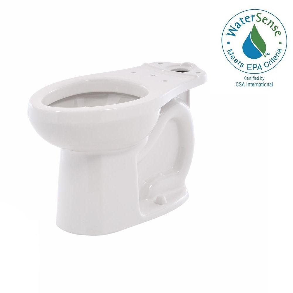 H2Option Siphonic Dual Flush Chair Height Elongated Toilet Bowl Only in