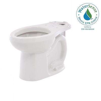 H2Option Siphonic Dual Flush Chair Height Elongated Toilet Bowl Only in White