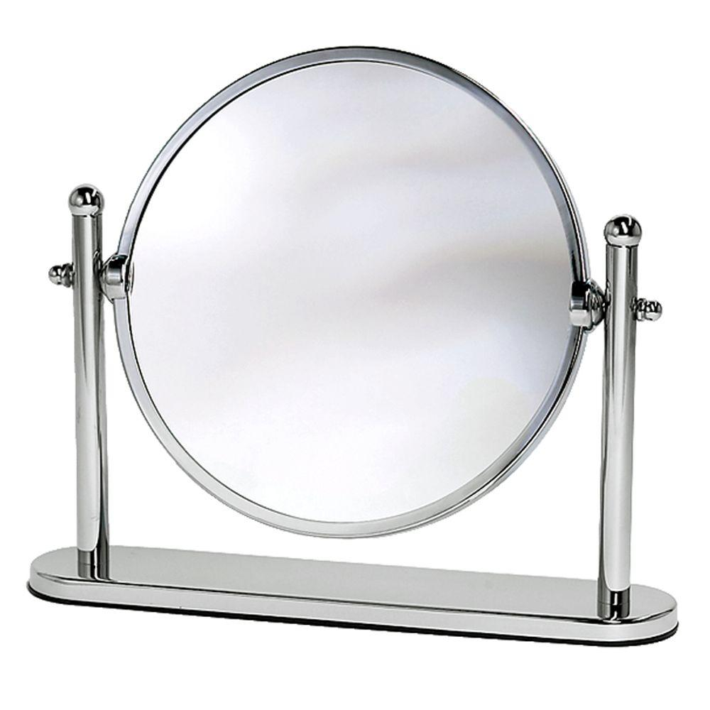 Gatco Lavatory Premier Table Makeup Mirror In Chrome 1391 The Home Depot