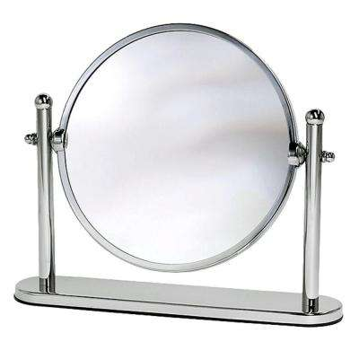 Lavatory Premier Table Makeup Mirror in Chrome