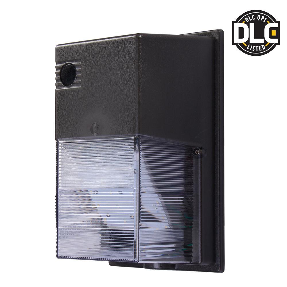 Dark Bronze Outdoor Integrated LED Wall Pack Light