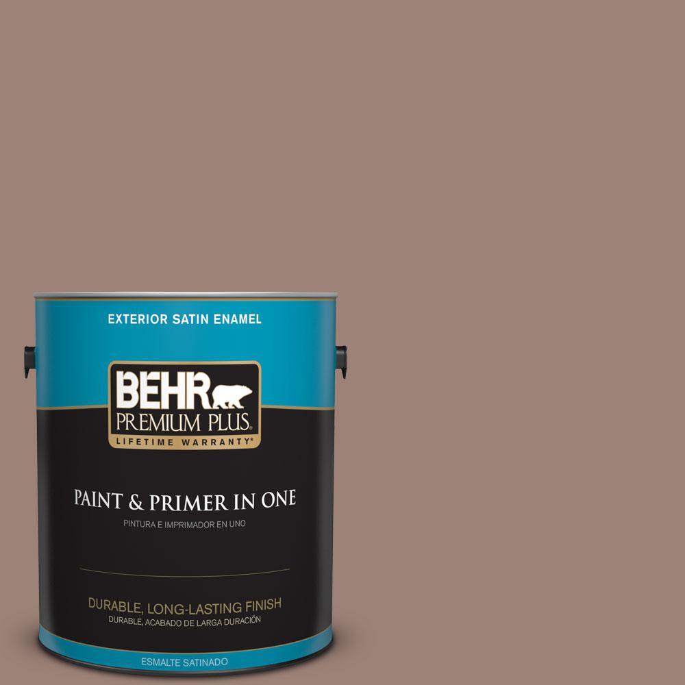 BEHR Premium Plus 1-gal. #N150-4 Modern Mocha Satin Enamel Exterior Paint