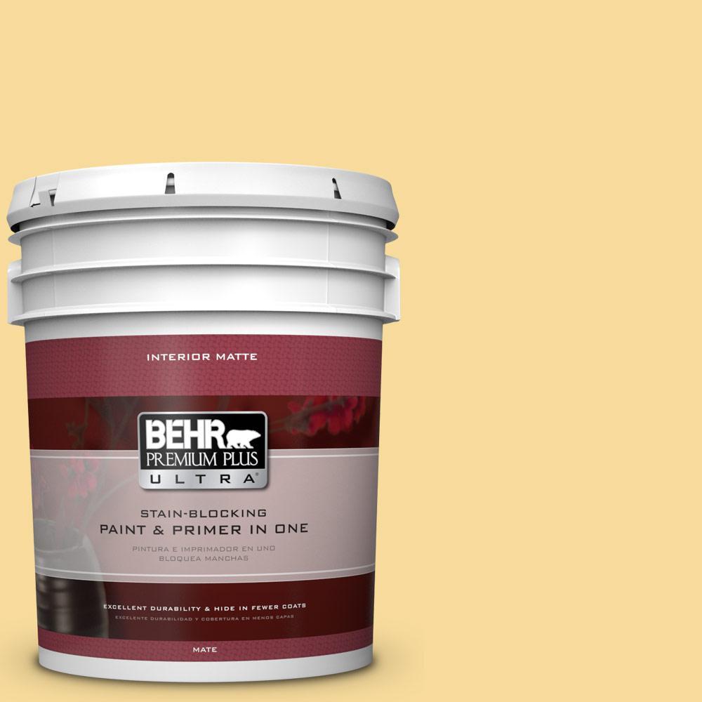 5 gal. #360C-3 Honey Tone Flat/Matte Interior Paint