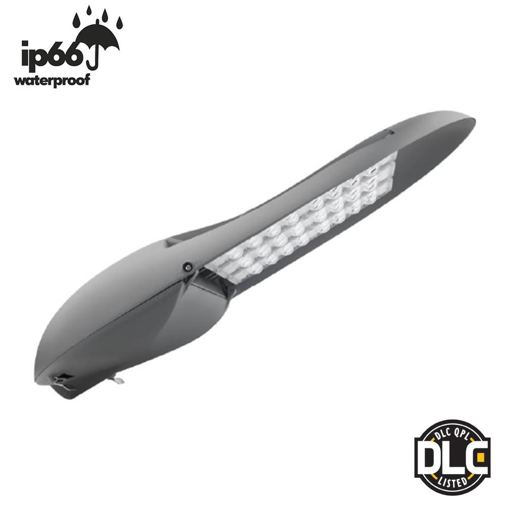 130-Watt Grey Outdoor Integrated LED Pole Mount Area Street Light 5000K